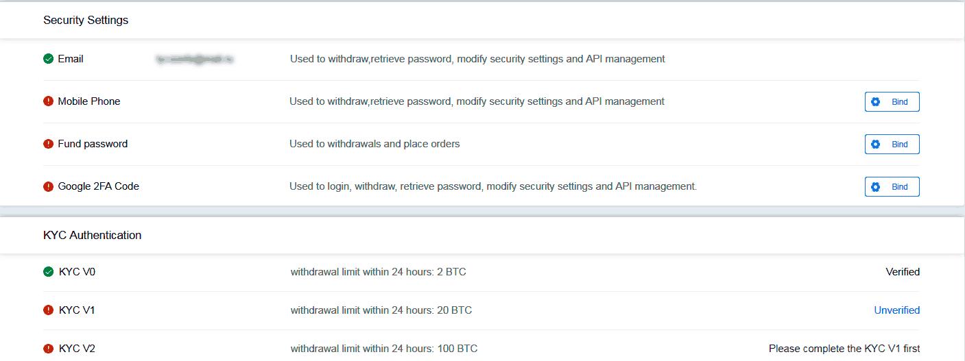 раздел безопастность биржи fatbtc.com