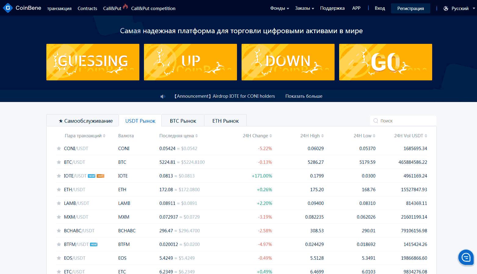 coinbene официальный сайт
