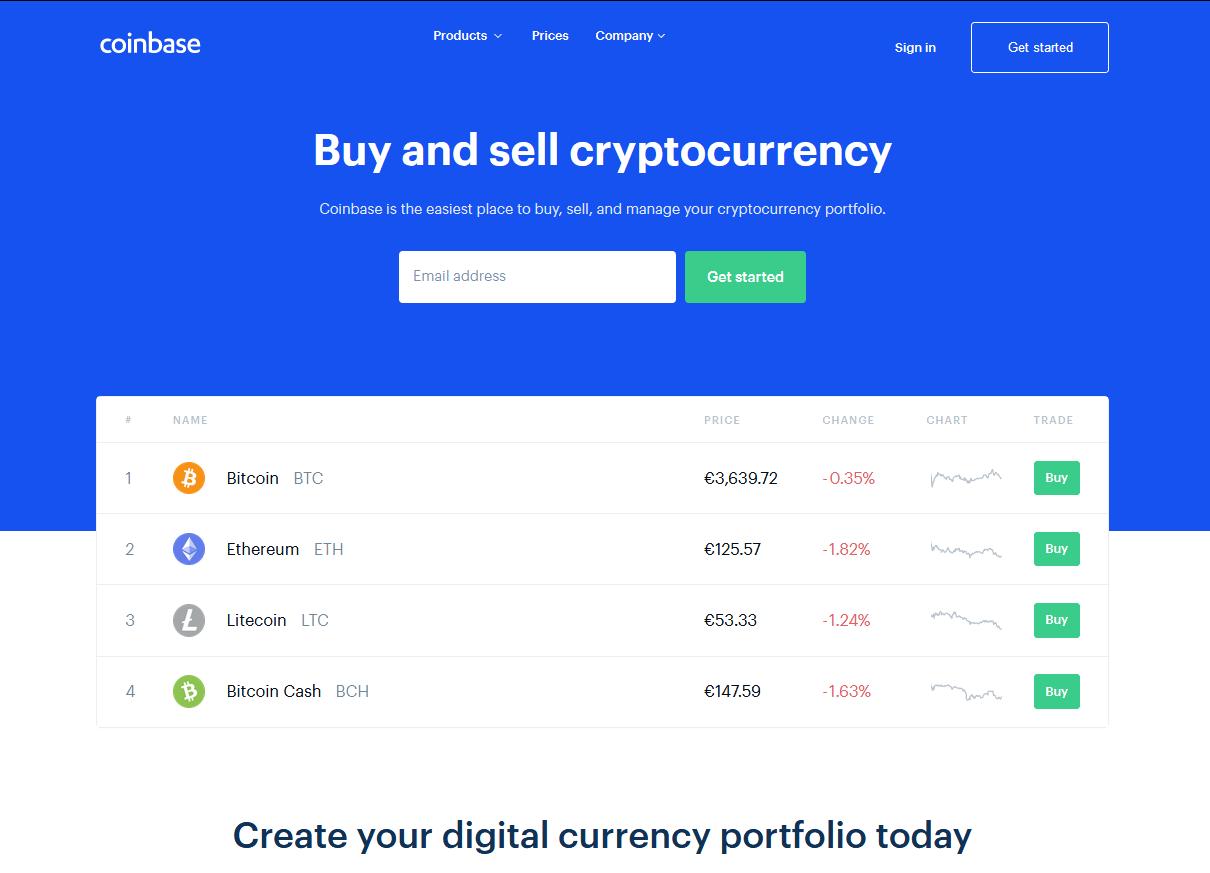 Официальный сайт coinbase