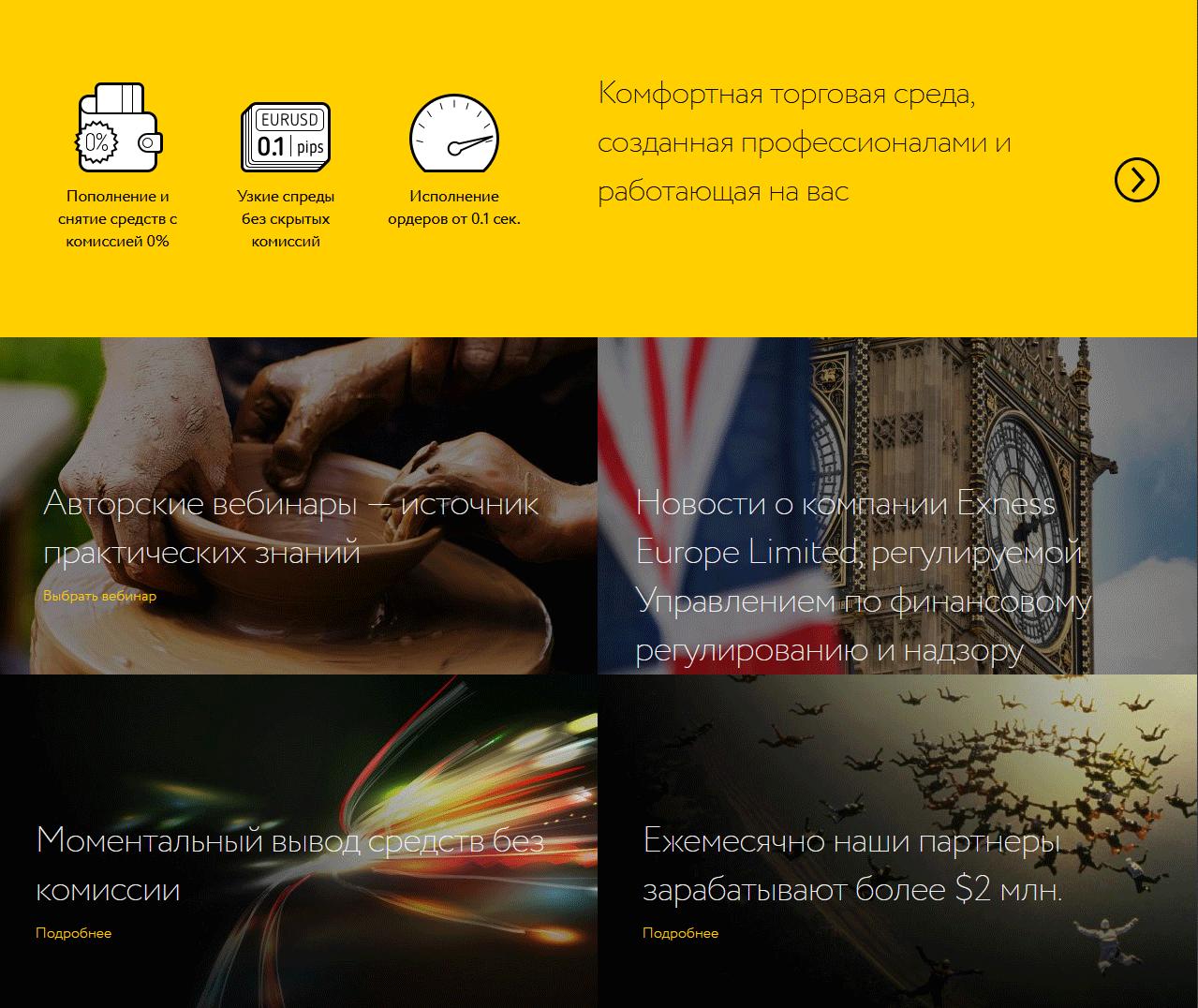 exness официальный сайт