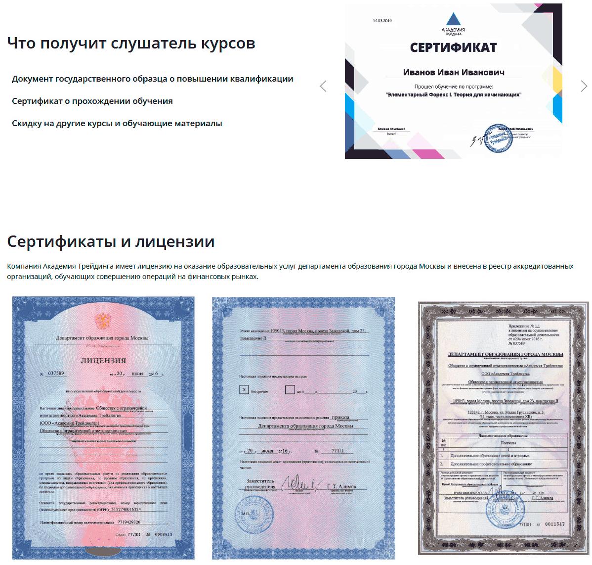 сертификат Аналитика Онлайн